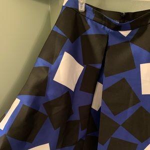 Geometric block Skirt